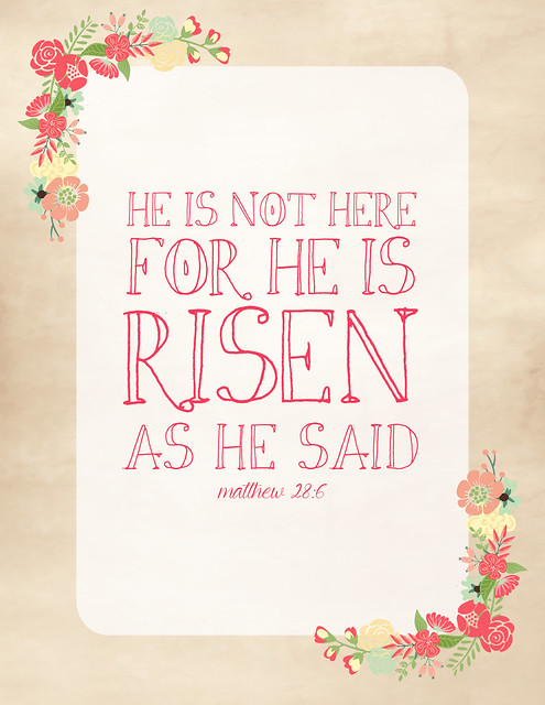 Happy easter cross he is risen