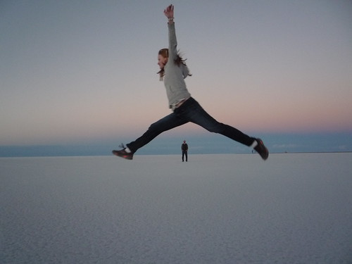 Goofy Pictures at Sunset Over the Salar