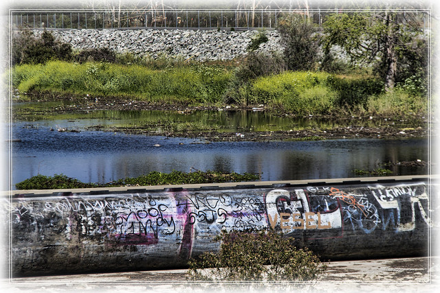 Graffiti at Rio Hondo riverbed