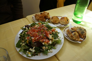 Salad and empanadas at Gavin's Cafe, 26th and Pine, Fitler Sq, Philadelphia