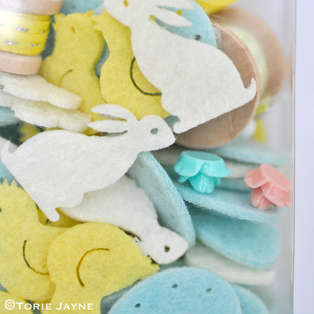 Easter felt table confetti on my pinboard