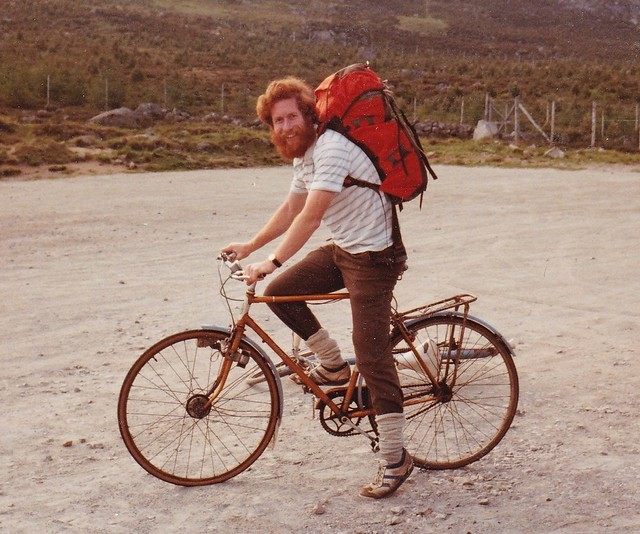 Andy Nisbet about to set off for the Dubh Loch summer 1982. I think we did Gulliver.