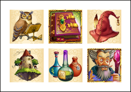 free Wild Wizards slot game symbols