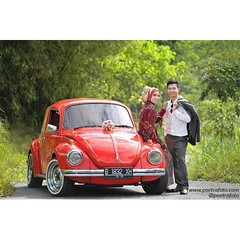 Simple pre wedding photo for Amel & Rusman with VW at Yogyakarta. Prewedding photo by @Poetrafoto :camera:   Visit our web http://prewedding.poetrafoto.com and like our FB page http://fb.com/poetrafoto for more pre wedding pictures.   Thank you... :blush: