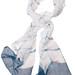 La Boutique Extraordinaire - Betty de Paris - Echarpe en gaze de coton teint à l'indigo naturel - 60 €