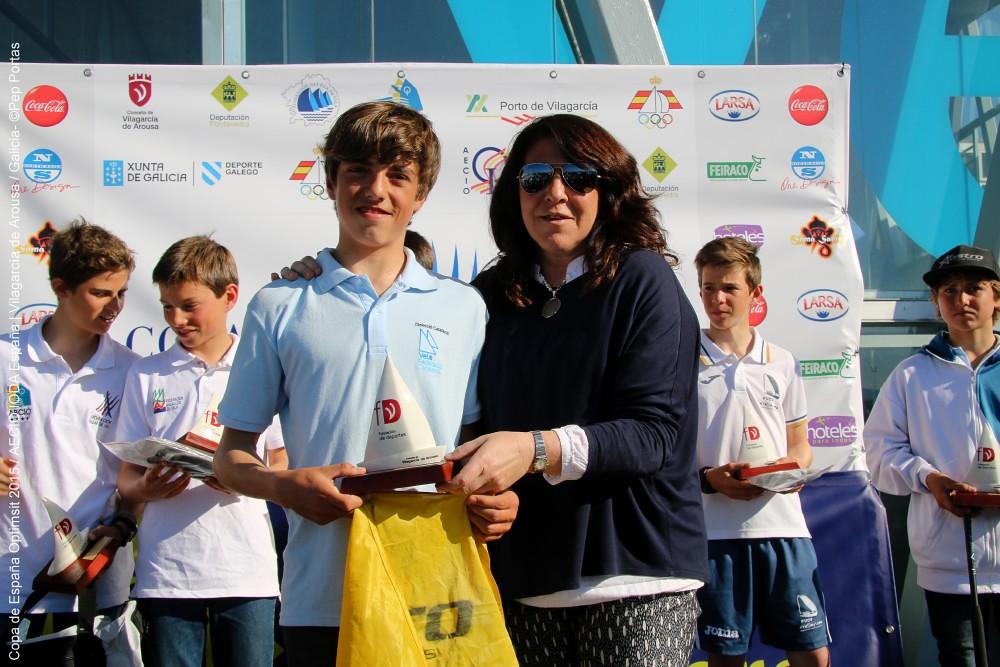 Edu Ferrer Sub-Campeón Copa España Optimist 2015