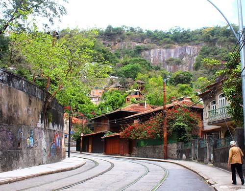 IMG_0444/Brazil/Rio De Janeiro/Santa Térésa/ Main Street Rua Auréa/Bonde Tram Way