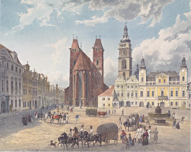 Eduard Gurk - Domkirche und bischöfliche Residenz in Königgrätz (1836)