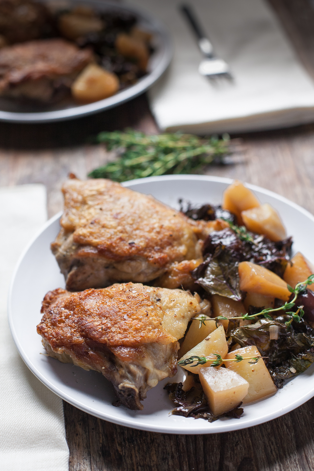 Pan-Roasted Chicken with Figs and Olives from The New Yiddish Kitchen