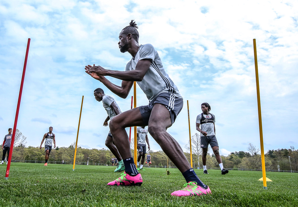 Kei Kamara & Xavier Kouassi at Revolution training | May 13
