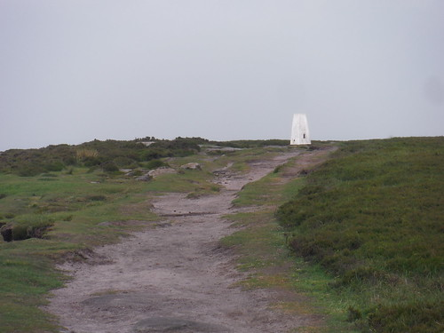 Trigpoint on High Neb, Stanage Edge's highest point