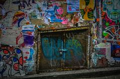 Wall of gum alley art
