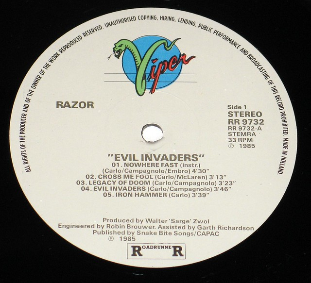 "Razor Evil Invaders 12"" Vinyl LP"