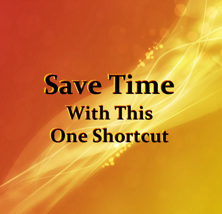 Save Time Shortcut HTML Excel Word Email