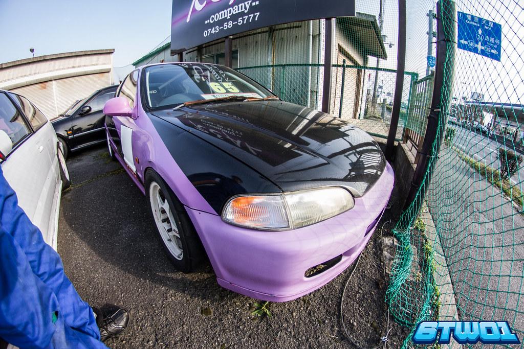 purple with black bonnet