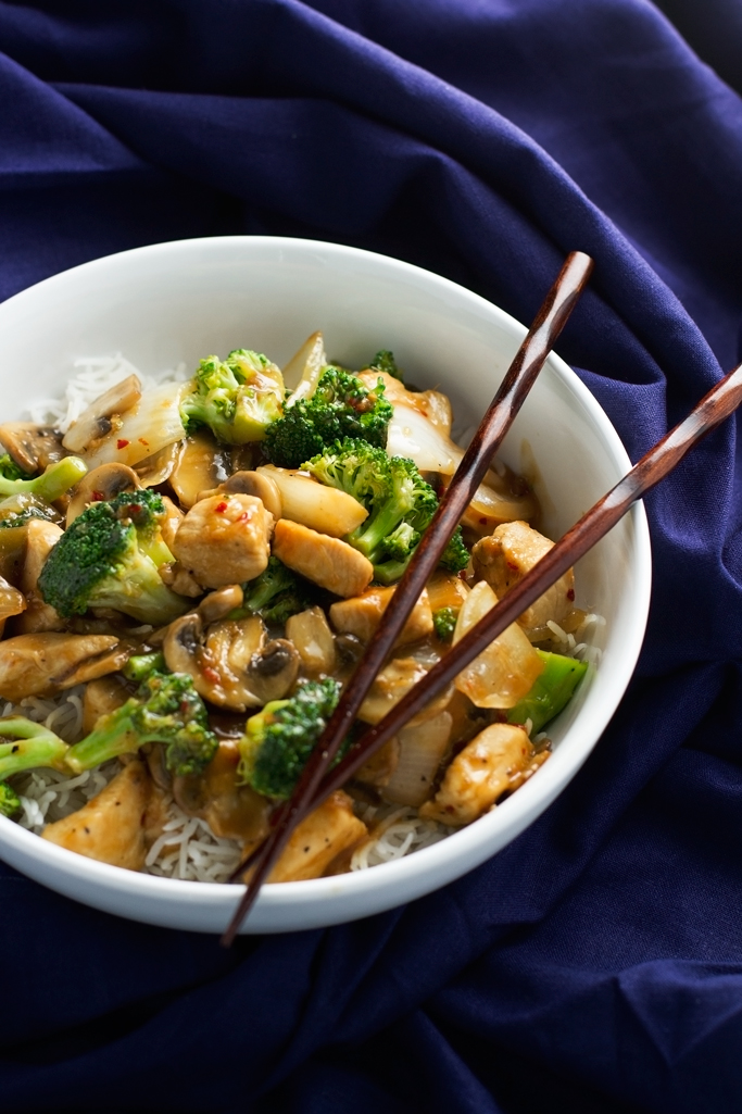 Ginger Chicken Stir-fry with Broccoli Recipe | Little ...