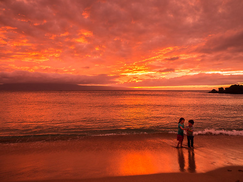 sunset hawaii maui