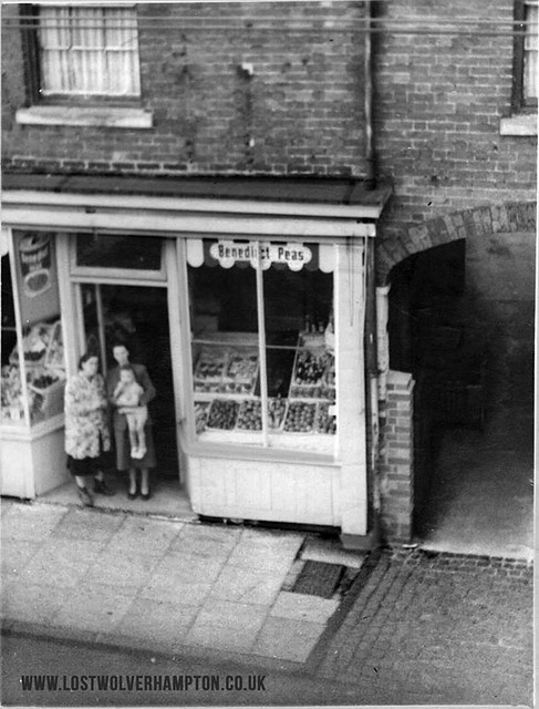 Dated circa 1952. Greengrocers, No. 19 Horseley Fields