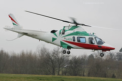 G-POTR - 1999 build Agusta A109E Power, visiting the 2015 Cheltenham Festival