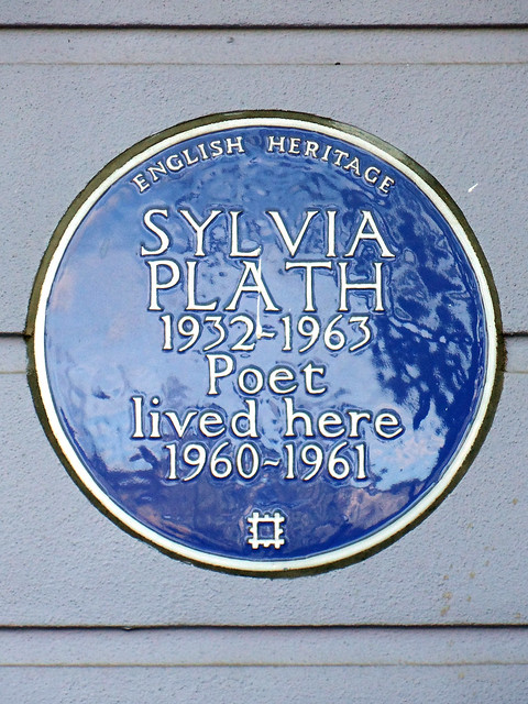 Photo of Sylvia Plath blue plaque