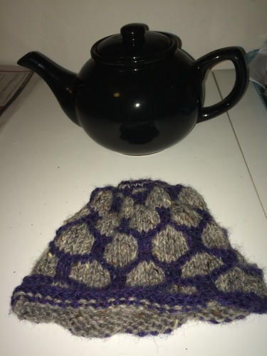 Blocking my Honeycomb Tea Cosy