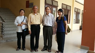 Daily Activities - Dr. Thanh-Tam (OBV Chair) at Caritas Vocational School in Diocese Xuân Lộc