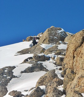 Papperson Climbing the East Ridge