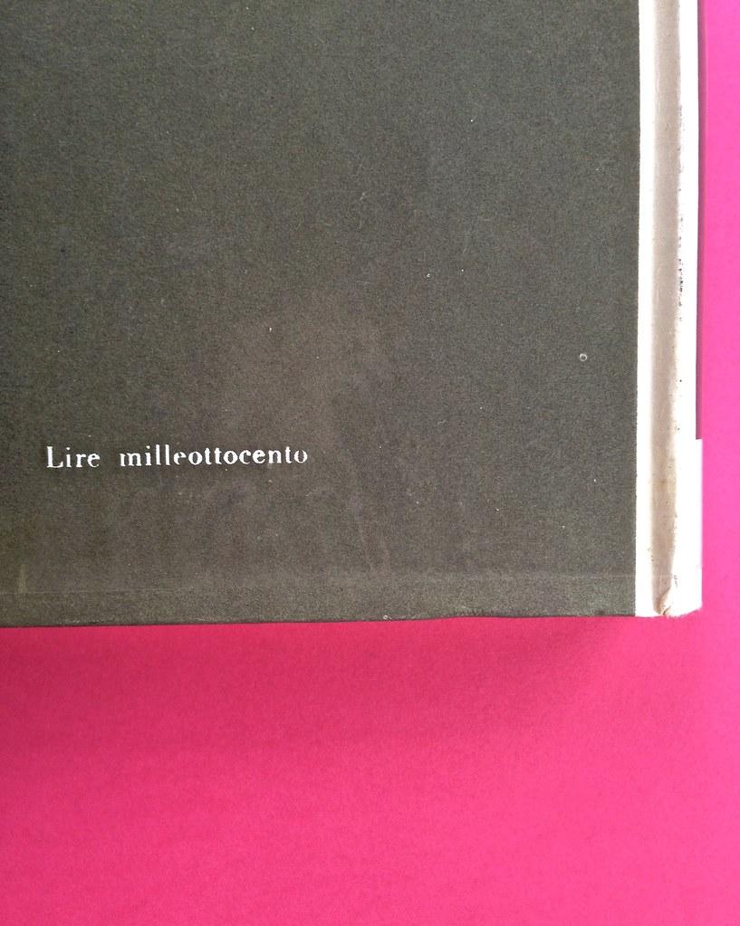 Disamore, di Libero Bigiaretti. Bompiani 1964. [Responsabilità grafica non indicata]. Quarta di sovracoperta (part.), 2