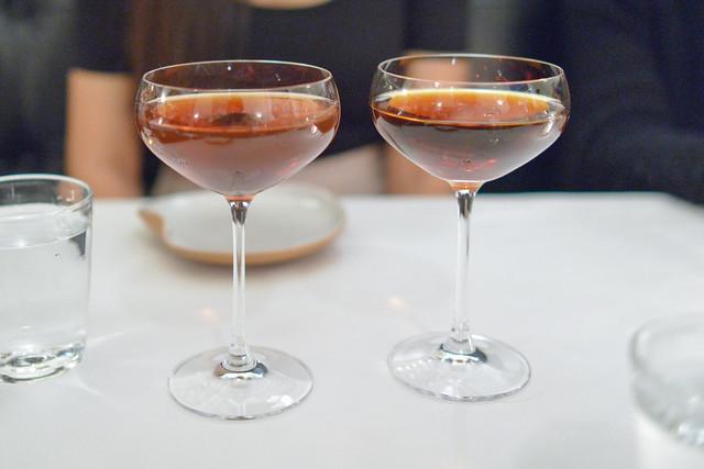 Manhattan bourbon, carpano antica sweet vermouth, angostura bitters