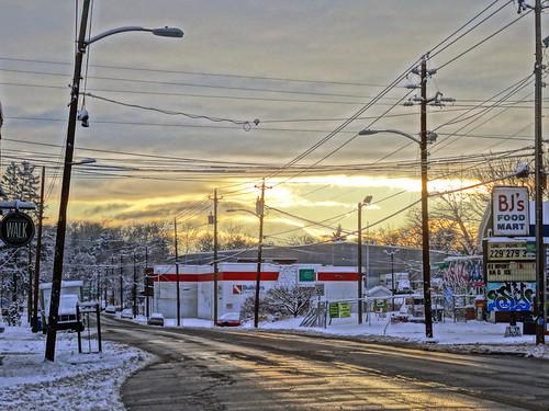 morning usa snow sunrise asheville northcarolina bjs westasheville haywoodroad zensutherland wavl 20150226