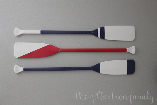 nautical nursery oars
