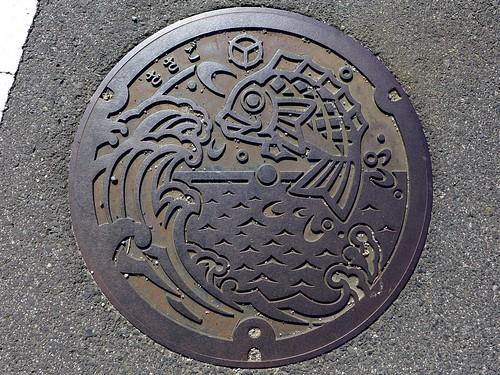Sasago Mihonoseki Shimane, manhole cover (島根県美保関町笹子のマンホール)