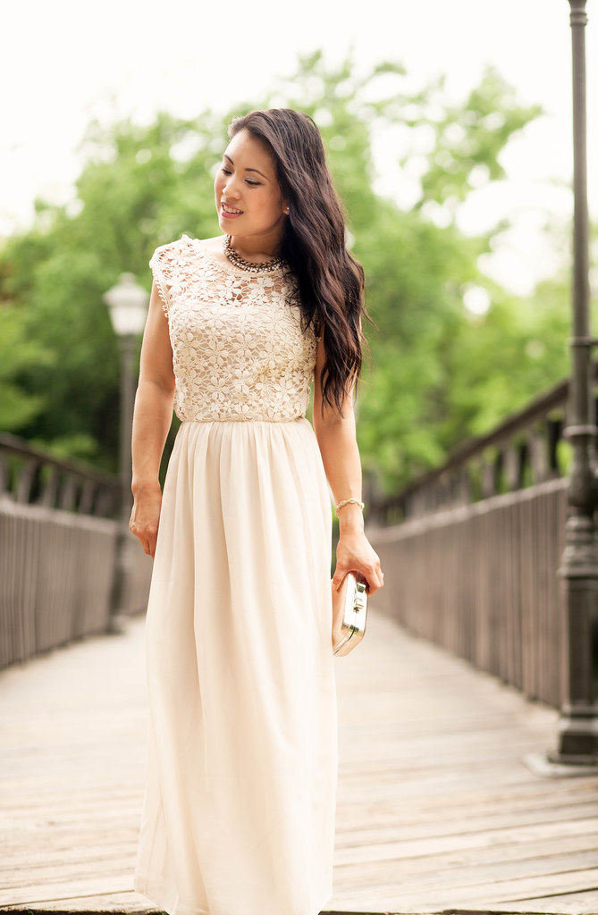 Lace Crochet Chiffon Maxi - cute & little | Dallas Fashion   ...