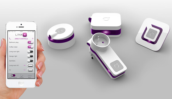 Linkio enables any electronic device to be controlled with a user's mobile phone