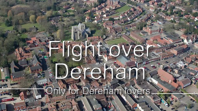 Flight over Dereham video