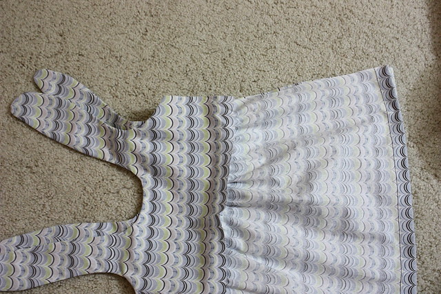Lining the Itty Bitty Baby Dress