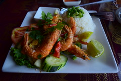 Black Peppered Shrimp at Monorom
