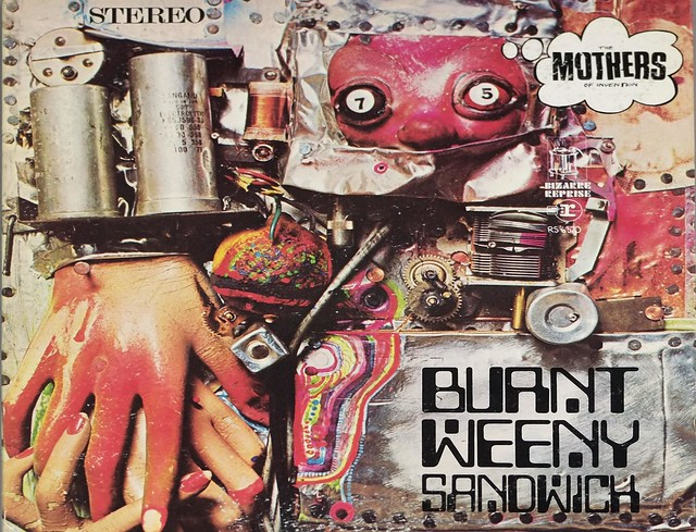 "MOTHERS OF INVENTION BURNT WEENY SANDWICH USA RS 6370 BLUE BIZARRE FOC 12"" LP VINYL"