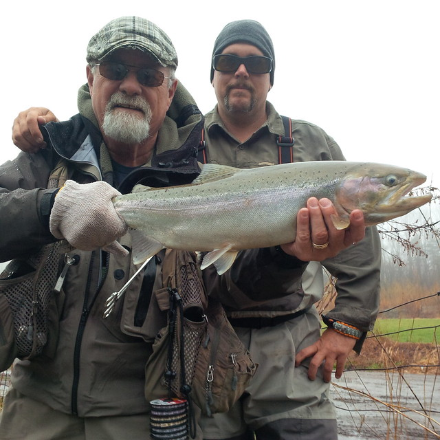Mike and Bill Spicer with a nice steelhead
