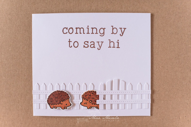 Coming by to say hi Card + 1