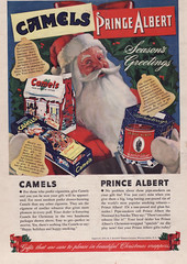 1941 Camels Cigarettes Ad - USA - Christmas