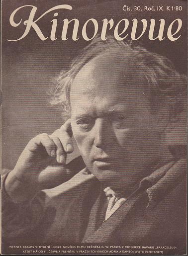 Časopis Kinorevue 1942-43 č. 30, Werner Krauss