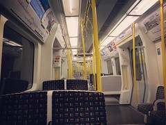 Extremely early, extremely empty #tube #London #metropolitanline #igtravels #😴