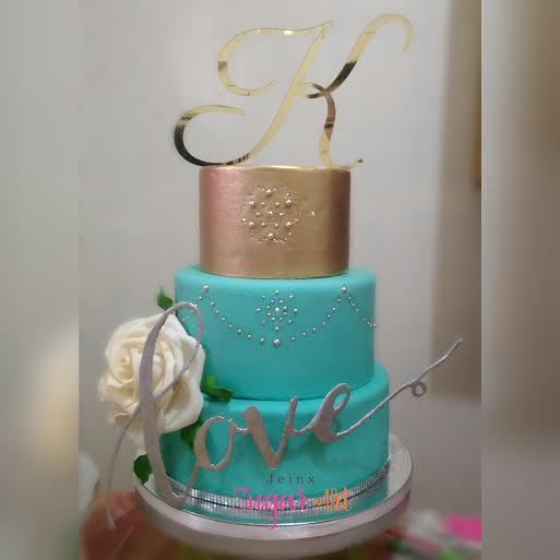 Elegant Cake by Jeinx Sugar Art by Theresa Austria