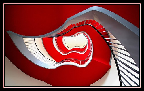 The red stairs.