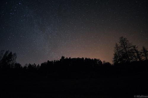 night stars landscape ruins ruiner milkyway raseborg rauniot