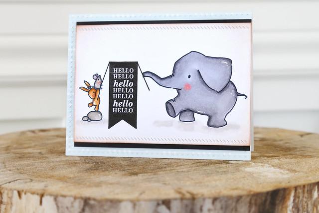 helloooo! {mama elephant stamp highlight}