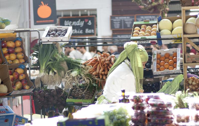 organic food stand