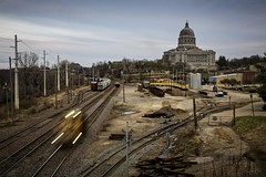 Railroad Yard with Capitol Building