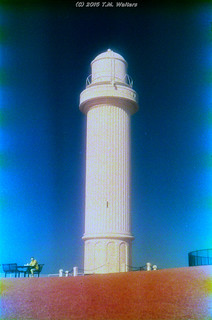 Wollongong Lighthouse (1986 expired Kodak Ektachrome Infrared 2236 35mm film)